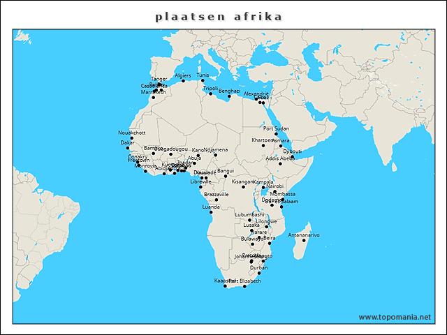 plaatsen-afrika