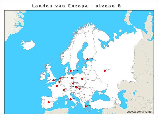 landen-van-europa-niveau-b