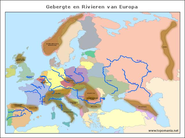 gebergte-en-rivieren-van-europa
