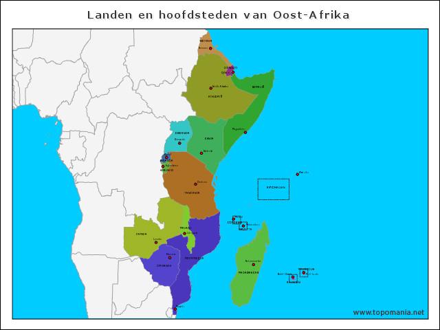landen-en-hoofdsteden-van-oost-afrika