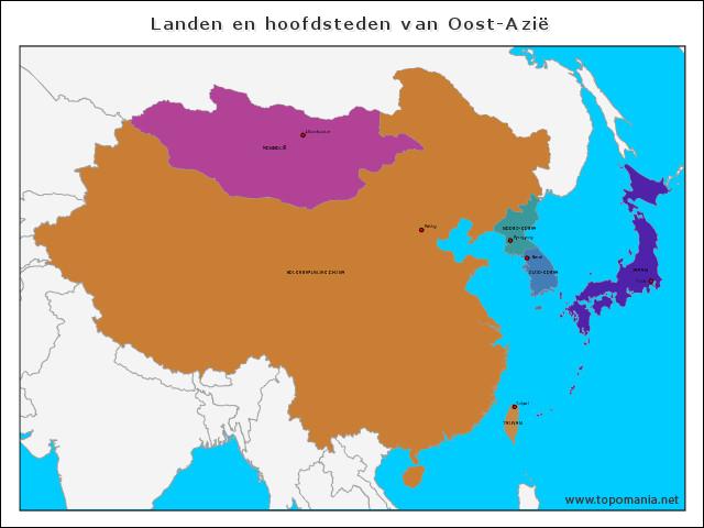 landen-en-hoofdsteden-van-oost-azie