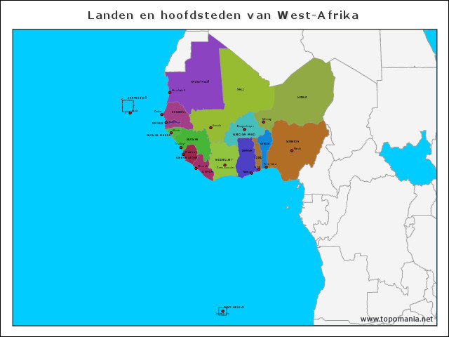 landen-en-hoofdsteden-van-west-afrika