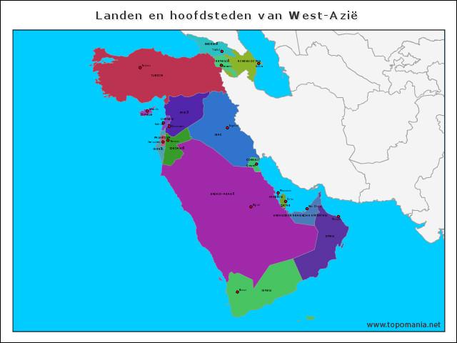 landen-en-hoofdsteden-van-west-azie