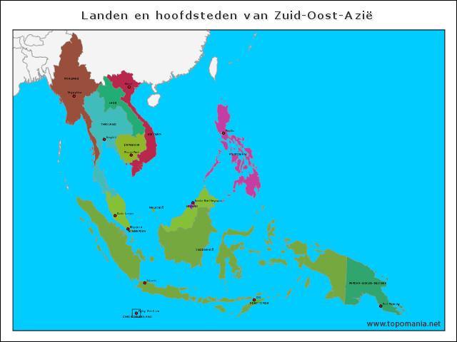landen-en-hoofdsteden-van-zuid-oost-azie