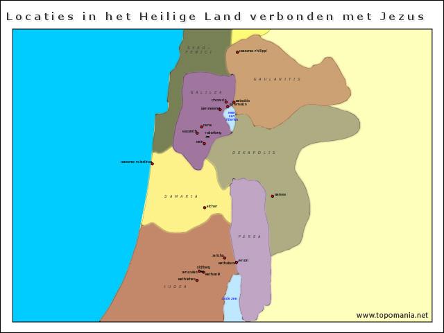 locaties-in-het-heilige-land-verbonden-met-jezus